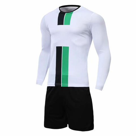 Boys and girls Soccer Jersey Long sleeve set Men youth soccer sets training jersey suit sport kit
