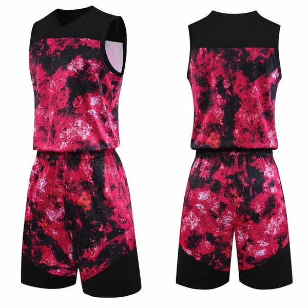 Customized College Basketball Uniform Man and Women Sports Suit youth Basketball Jersey breathable