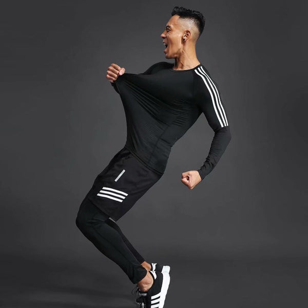 summer Men's Tops & Tees Quick Dry fitness for gym joggers running sporting T-shirt Men Soccer