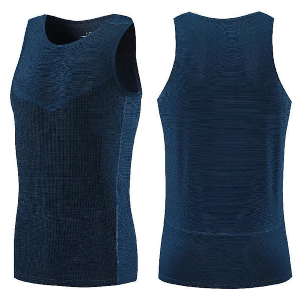 Vest Men Running Compression Tank Top Vest Gym T Shirts Yoga Workout Fitness Sleeveless T-shirts