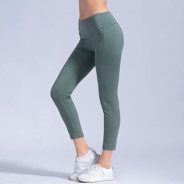 Gym Yoga Tights Women Yoga Pants Sport Fitness Running Leggings Girl Yoga Skinny Pants Breathable