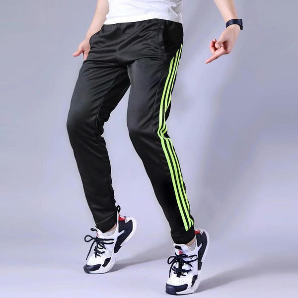 Men Sports Pants Running zipper Pockets Athletic Football Soccer Training sport Pants Elasticity