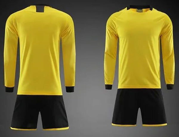 Children Sets Long sleeve blank Winter Soccer Jersey uniforms boys girls Custom soccer jerseys set
