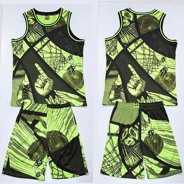 2020 New Men Women Basketball Jerseys Sets Uniforms kits Breathable Sports Suit Clothes Youth