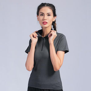 Sport Shirts Solid Color High Elastic Gym Yoga Top Running Breathable Short sleeve T-Shirts Girl