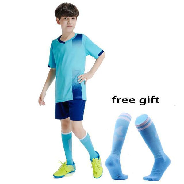 Kids Football jerseys boys  Soccer jerseys set uniform Survetement football kit girls 2020 Custom