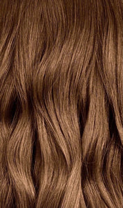 Color from Roots to Ends in Light Brown ( Ready to Order )