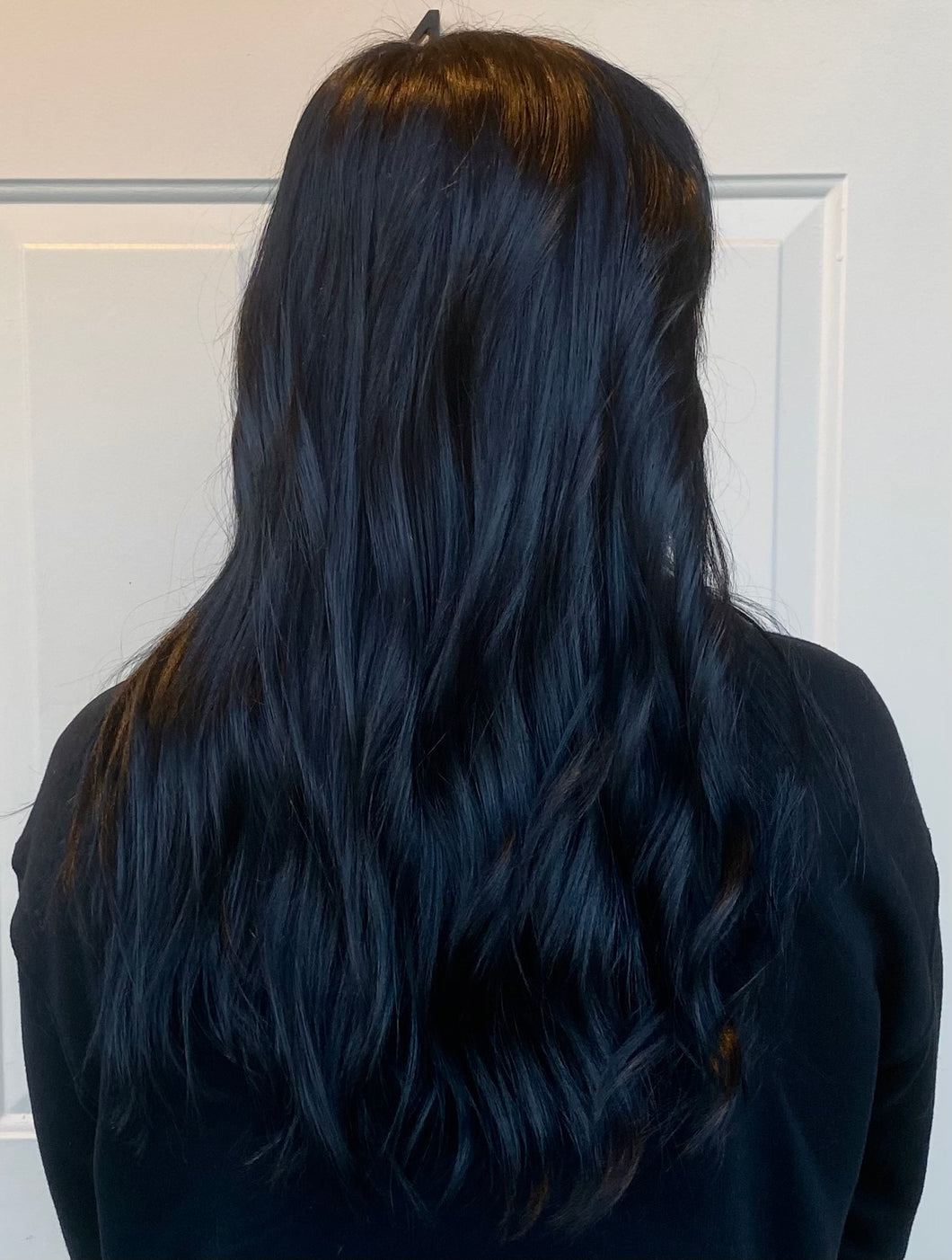 Color from Roots to Ends in Black (Ready to Order)