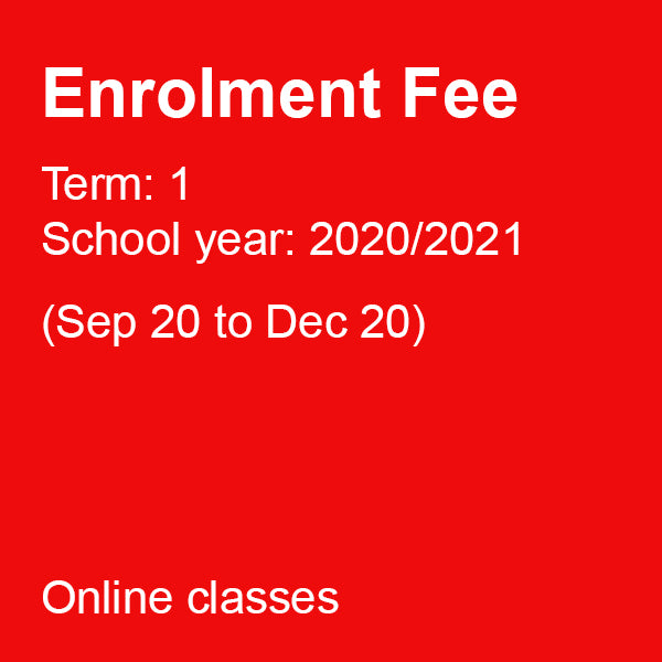 Enrolment Fee for Term 1 (Sep to Dec 2020) - £30.00