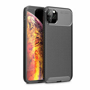 Shockproof Silicone Carbon Fiber Fibre Case Cover For iPhone 12 6.1""