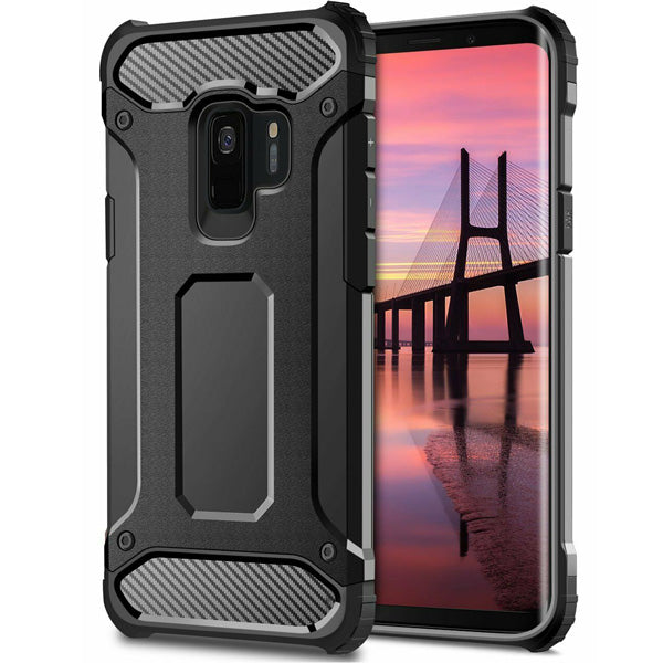 Samsung Galaxy S8 Tough Hard Heavy duty Armour Case Black