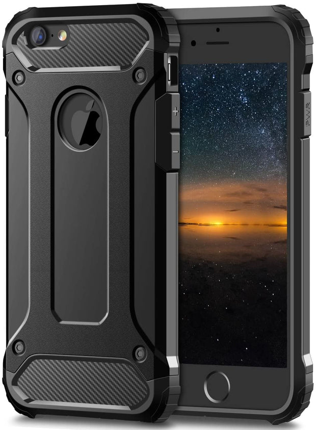 Apple iPhone SE 2020 (2nd Gen) Case, Rugged Tough Dual Layer Armor Case Black