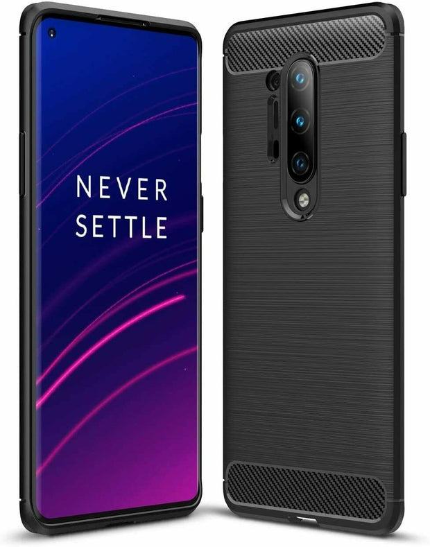For OnePlus 8 Pro Carbon Fibre Gel Case Cover Shockproof & Stylus