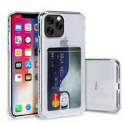 Clear Case For iPhone 8 Plus TPU Silicone with Card Slot
