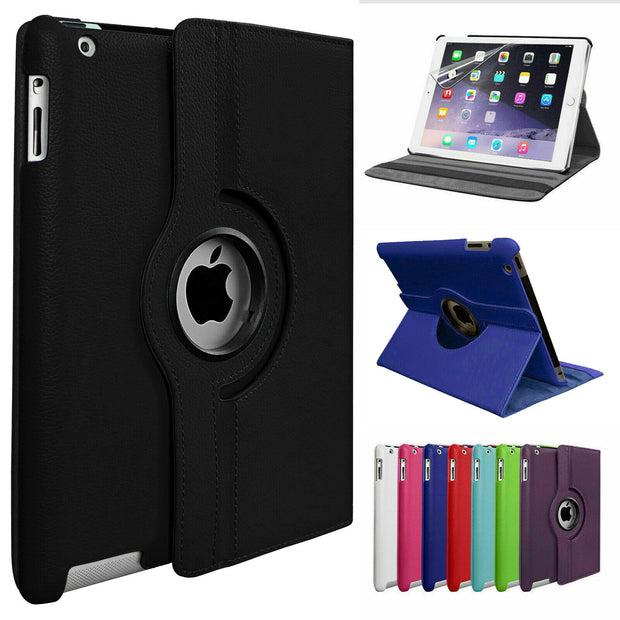 "Leather 360 Rotating Smart Case Cover Apple iPad 10.2"" (8th Gen)"