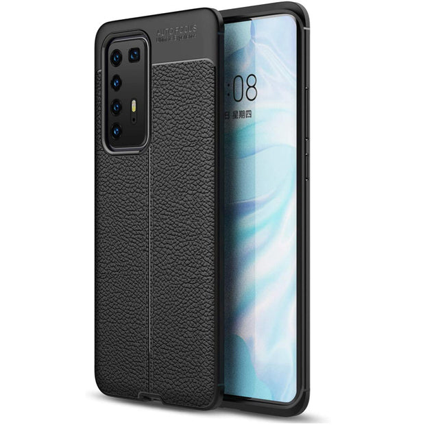 Leather Texture design Bumper Protective Cover for Huawei P20 Lite