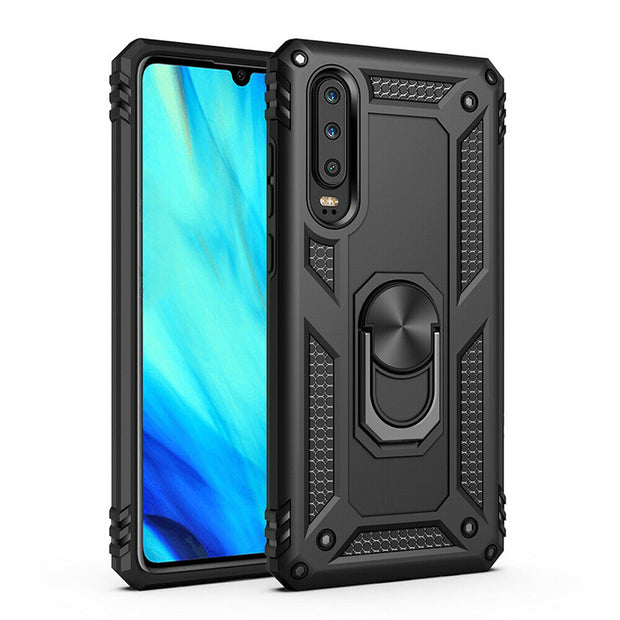 Huawei Mate 20 Lite  Shockproof Heavy Duty Ring Rugged Armor Case Cover