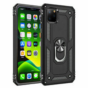 Apple iphone 7 Shockproof Ring Case Cover Black