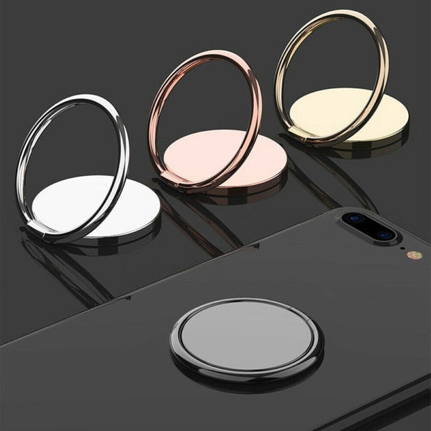 FINGER RING HOLDER 360° MAGNETIC ROTATING STAND SOCKET PHONES