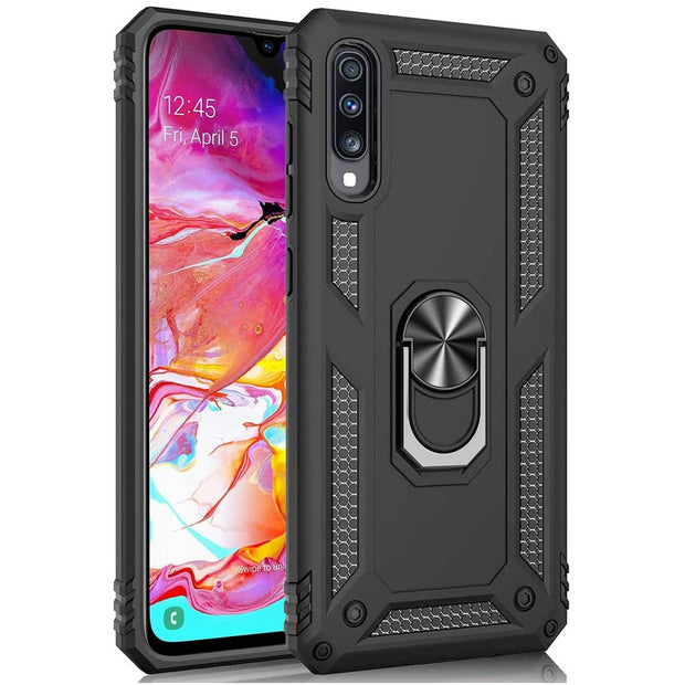 Samsung Galaxy A41 Case Shockproof Heavy Duty Ring Rugged Armor Case Cover