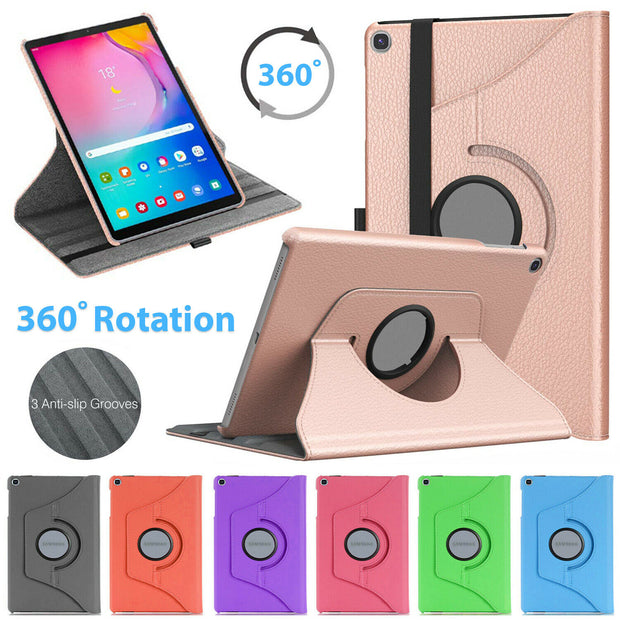 "Samsung tab A7 10.4"" (2020) Leather 360 Rotating Tablet Case Cover"