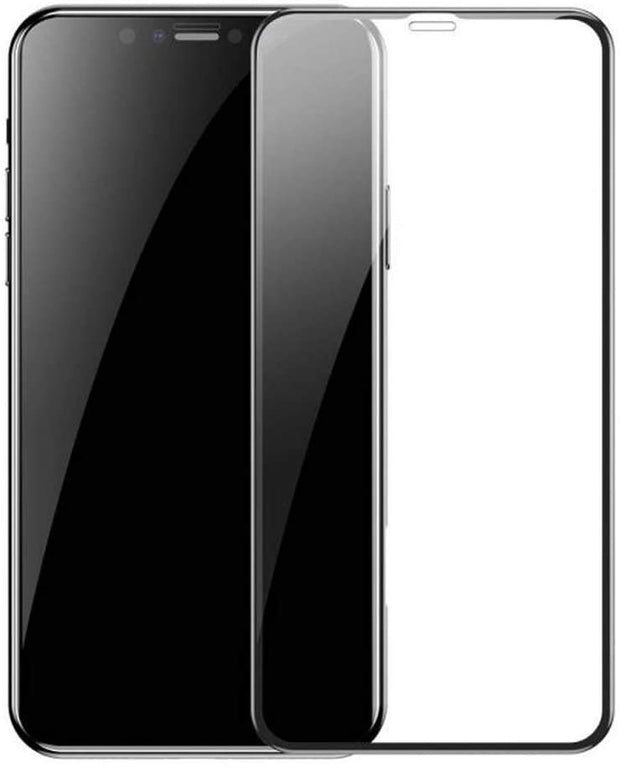 iPhone X/XS Full Cover Glass Screen Protector - Black