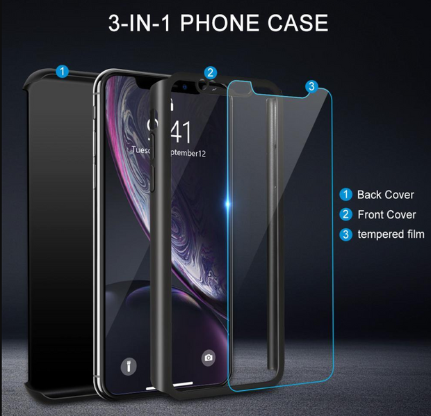 CASE For iPhone X/XS Shockproof 360° Full Body Cover Protective Hybrid case