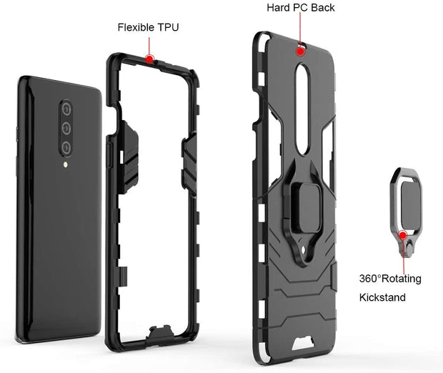 Silicone TPU Bumper Case Full Body Protection Cover Anti-Slip Shockproof Case for OnePlus 7T
