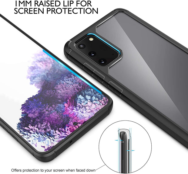 Samsung Galaxy S10 Plus Case, Hybrid Clear Transparent TPU Bumper Frame Cover Case