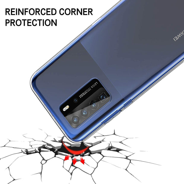 Huawei P Smart 2020 Case, Slim Clear Silicone Gel Phone Cover