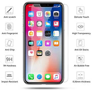 iPhone XS Max Case Compatible Tempered Glass Screen Protector