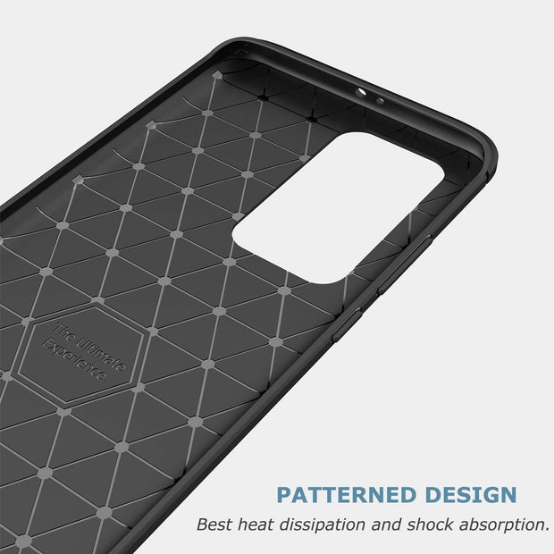 Shockproof Silicone Carbon Fibre Case Cover For Huawei Y5P 2020