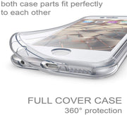 360° Front and Back Full protection Gel Skin Case Cover For Apple iPhone 8 Plus
