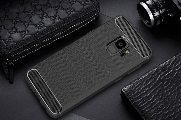 Shockproof Silicone Carbon Fiber Fibre Case Cover For Samsung Note 8