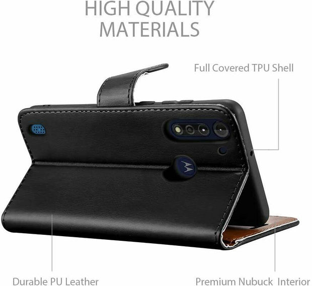 For Motorola G8 Power Lite Flip Leather Wallet Case Cover Book Case