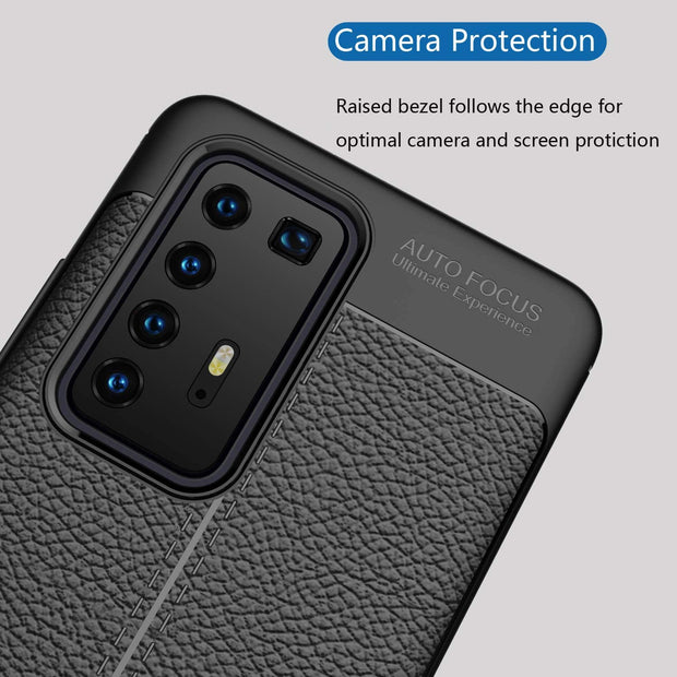 Leather Texture design Bumper Protective Cover for Huawei Mate 20 Lite