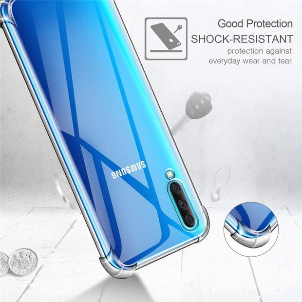 Case for Samsung A90 5G Transparent Shockproof Ultra Transparent Soft TPU Silicone Gel Case Cover transparent -Transparent