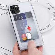 Clear Case For iPhone X/XS TPU Silicone with Card Slot
