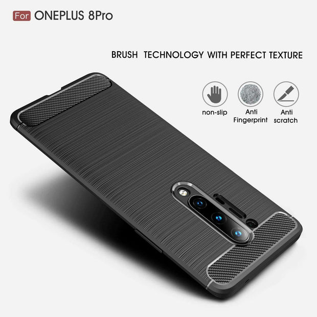 OnePlus 7 Carbon Fibre Gel Case Cover Shockproof & Stylus
