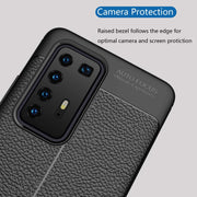 Leather Texture design Bumper Protective Cover for Huawei P40 Pro