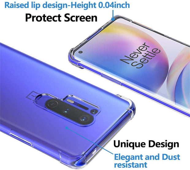 Shockproof Soft TPU Rubber Skin Silicone Protective case for OnePlus 8
