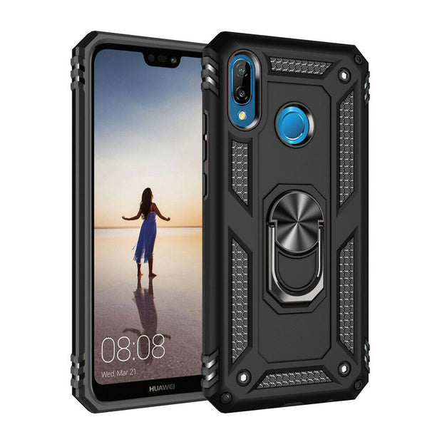 Huawei P30 Lite Shockproof Heavy Duty Ring Rugged Armor Case Cover