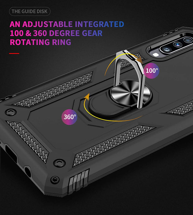 Samsung Galaxy A71 Case Shockproof Heavy Duty Ring Rugged Armor Case Cover