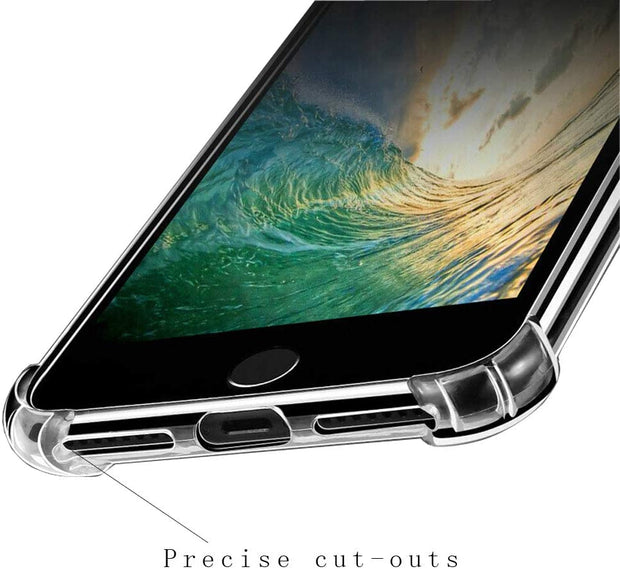 Clear Silicone Bumper Shockproof Case For Apple iPhone 8 Plus