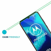 For Motorola G8 Power Lite Tempered Glass Screen Protector Case Friendly