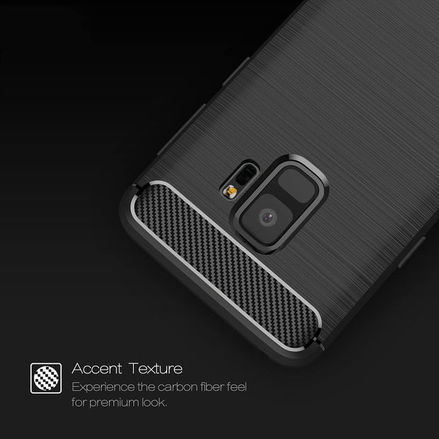 Shockproof Silicone Carbon Fiber Fibre Case Cover For Samsung S8