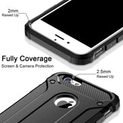 Apple iPhone 7 Case, Rugged Tough Dual Layer Armor Case Black