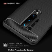 For OnePlus Nord Carbon Fibre Gel Case Cover Shockproof & Stylus
