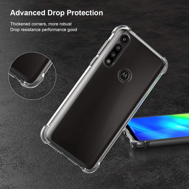 Crystal Clear Cover Bumper with Reinforced Corners Ultra Fit Anti-Scratch Shockproof TPU Case for Motorola G8 Power Lite