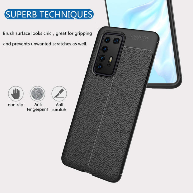 Leather Texture design Bumper Protective Cover for Huawei P20